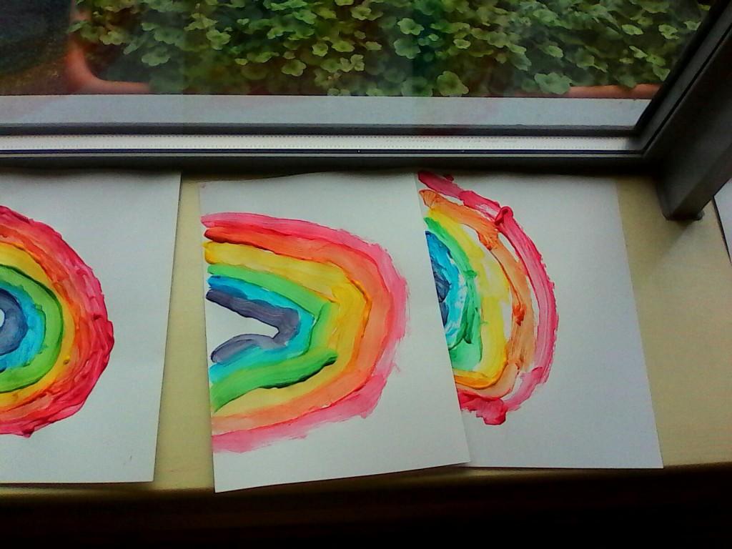 Painting a rainbow...